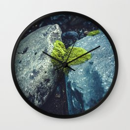 Nature Conquers Wall Clock