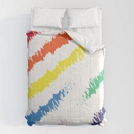 Rainbow Paint Daubs Comforters