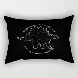 Coffeesaurus Rectangular Pillow
