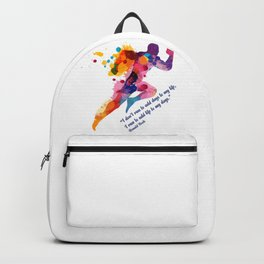 A runners and winners short life quote Backpack
