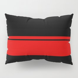 Red Racing Stripe Berlin Style Pillow Sham