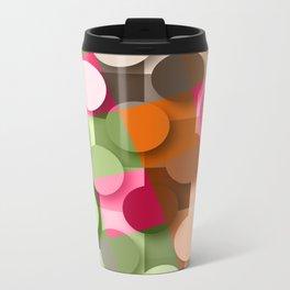 dots & squares Metal Travel Mug