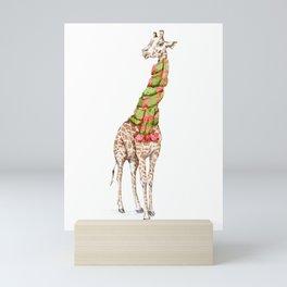 Giraffe in a Scarf Mini Art Print