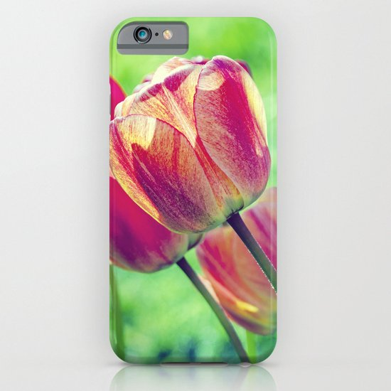 Lighted Tulips iPhone & iPod Case