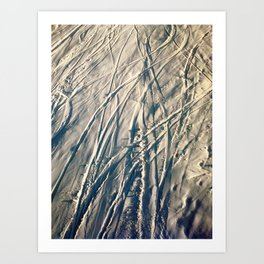 Shred Lines on the Mountain Art Print