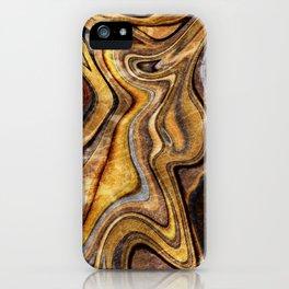 Tiger's Eye gemstone pattern iPhone Case