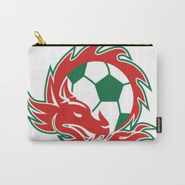 Welsh Dragon Soccer Ball Carry-All Pouch