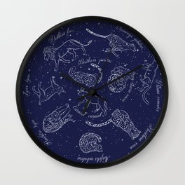 Big Cats Constellations Wall Clock