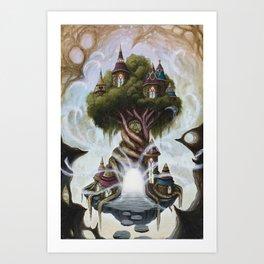 The Techgnosis Tree Art Print