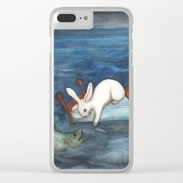 Bed as a Boat Clear iPhone Case
