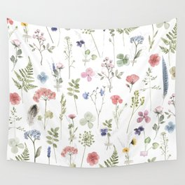 Wild Garden Flowers Memories Wall Tapestry