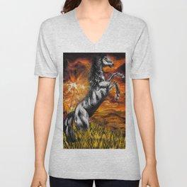 It's always sunny in philadelphia, charlie kelly horse shirt, black stallion Unisex V-Neck