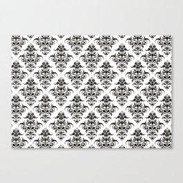 Damask Pattern | Black and White Canvas Print