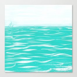 Sailing Across A Turquoise Sea Canvas Print