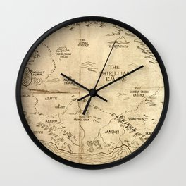 Map of Imirillia Wall Clock