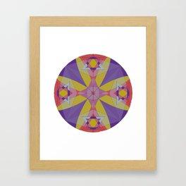 Judeo Star Mandala Framed Art Print
