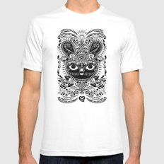 Day Of The Dead Bunny Celebration White Mens Fitted Tee SMALL