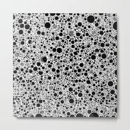 Smart black and white 6B Metal Print