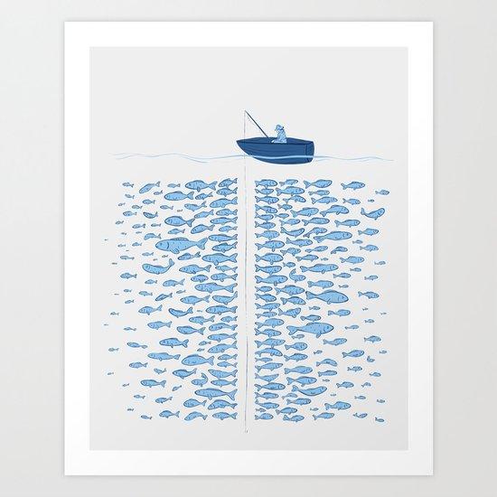 217 Finicky Fish (plenty of fish in the sea) Art Print