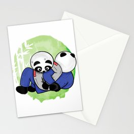 BJJ Master Pandas roll in bamboo forest - Kimura submission T-Shirt Stationery Cards