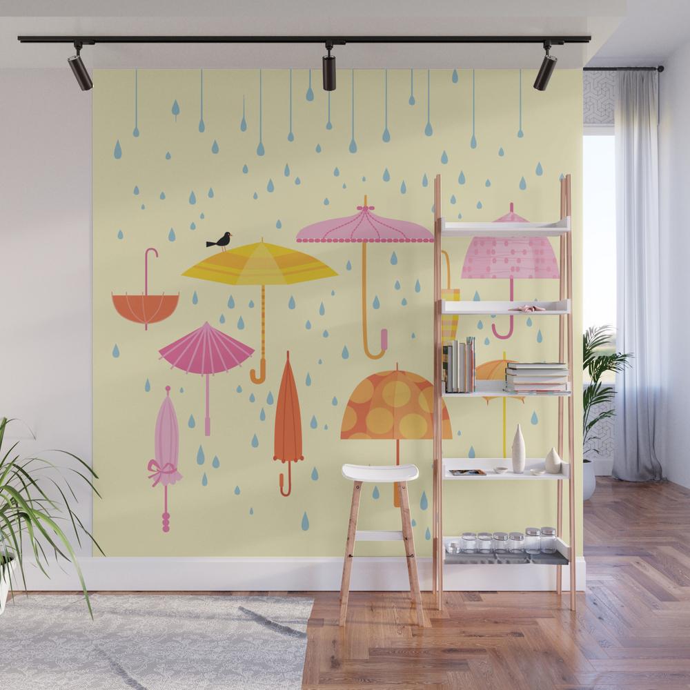 Pretty Parasols for Precipitation Wall Mural by rpickens (WMP3119023) photo