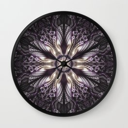 Mysterious mandala of elegance Wall Clock