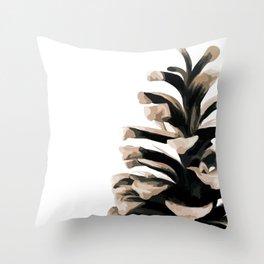 Pinecone Winter Print 3 Throw Pillow