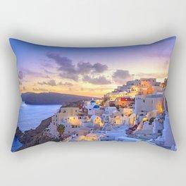 Santorini #society6 #decor #buyart Rectangular Pillow