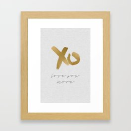 Love You More Framed Art Print