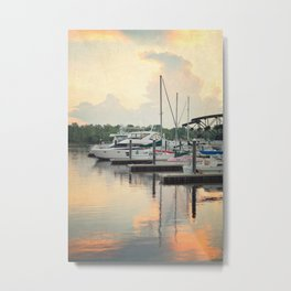 Little Pink Sailboat Metal Print