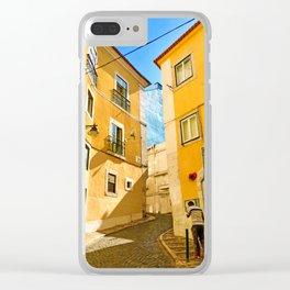 Lisbon street Clear iPhone Case