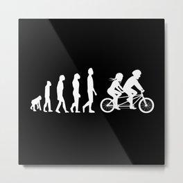 Tandem Evolution Tandem Bicycle Metal Print