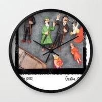 tintin Wall Clocks featuring Tintin Toy by Cristina Ortiz Photo
