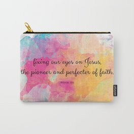 Perfecter of Faith, Scripture Tote Bag Carry-All Pouch