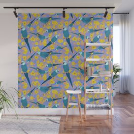 Spix Macaw Flower Power Wall Mural