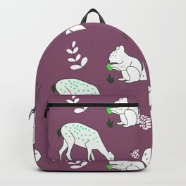 Wildlife - Happy Forest Animals Muted Berry Backpack