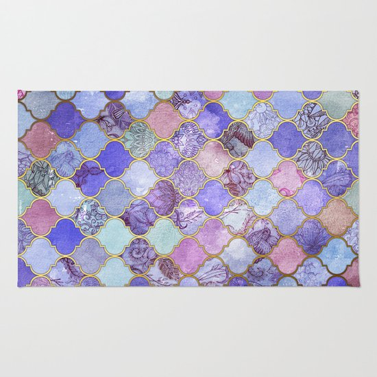 Royal Purple Mauve Amp Indigo Decorative Moroccan Tile