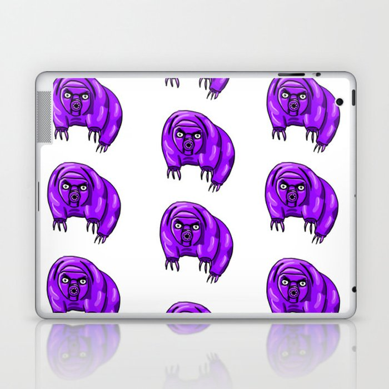 Purple Repeating Tardigrades Pattern Pop Art Laptop & iPad Skin