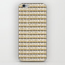 Yellow and White Abstract Drawn Cryptic Symbols iPhone Skin