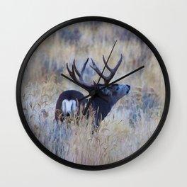 Black Tail Buck Wall Clock