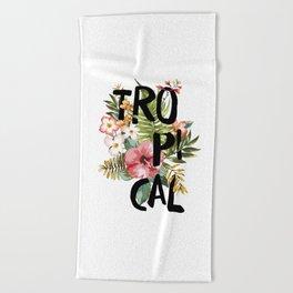 Tropical I Beach Towel