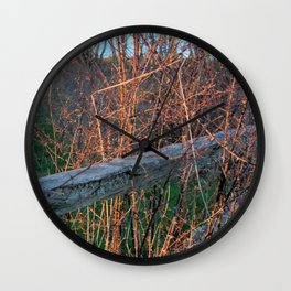 Straw Pi over fence Wall Clock
