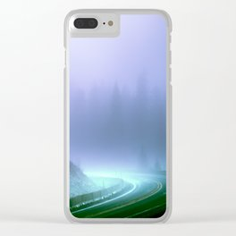 Alien Arrival Clear iPhone Case