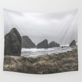 Cloudy Beach Wall Tapestry