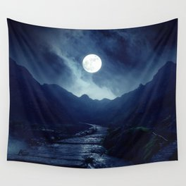 Walk to the Moon Wall Tapestry