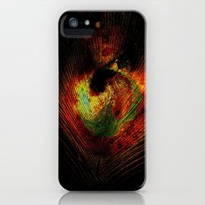 Vintage Abstract Feather iPhone (5, 5s) Slim Case