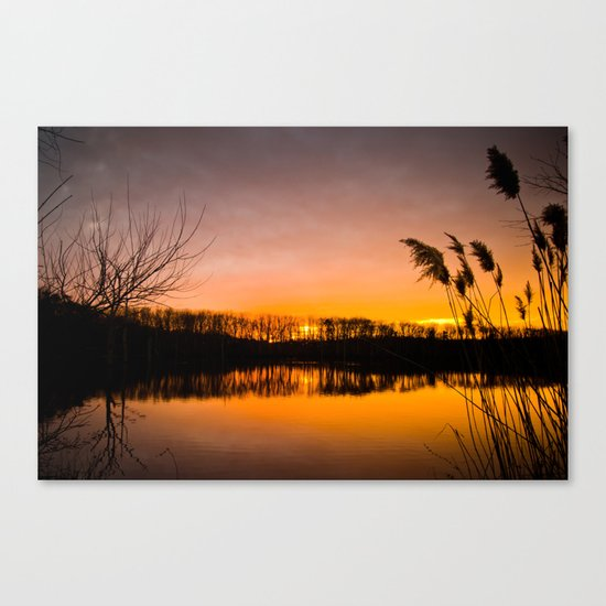 Manasquan Sunset Canvas Print