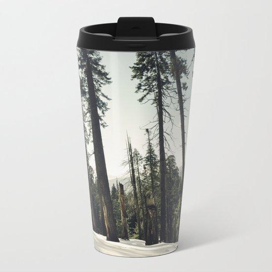 Winter Sequoia Forest Metal Travel Mug