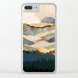 Golden Vista Clear iPhone Case
