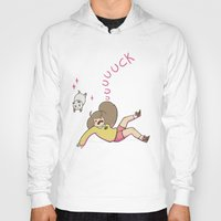 puppycat Hoodies featuring uuuuuck by Oh My Dog!